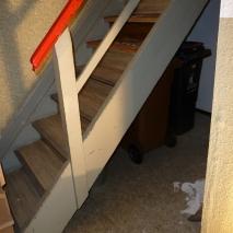 Ausgangssituation gerade Treppe - Wunsch: Anhebung um Emporen-Platz zu schaffen 1