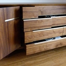 Sideboard Nuss/Ahorn Trapezform 2
