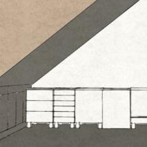 Küche und Schränke in Dachschräge